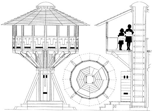 Childrens tree house plans floor plans for Free treehouse blueprints